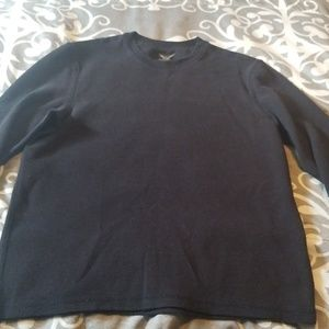 Mens long sleeve black shirt size L